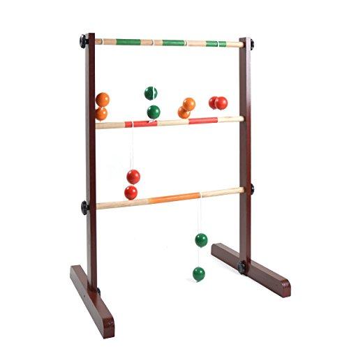 Ocean5 - Leitergolf Bausatz mit 6 Doppelkugeln - das Wurfspiel inkl. Bolas - Kultspiel Laddergolf - das Geschicklichkeitsspiel aus Holz