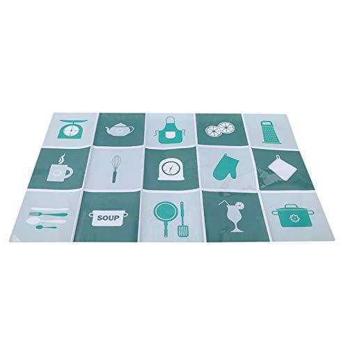 unknow Zoomne Gedruckte Küche Badezimmer Fliesen Aufkleber Cartoon Teekanne Tasse Schürze Gedruckte Abziehbild Dekoration,Grün