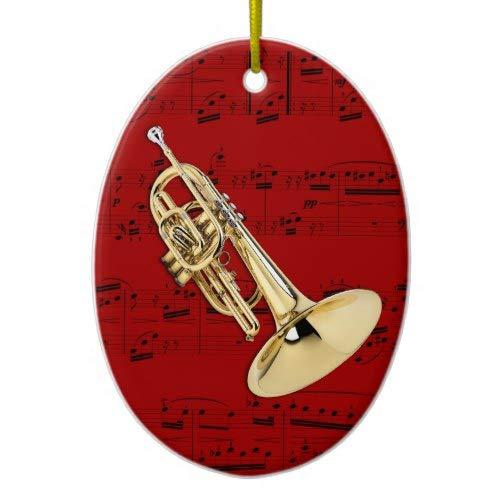 Tiukiu Ornament Keepsake Gift Idea Marching Mellophone
