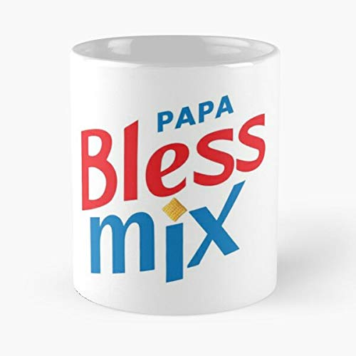 H3h3 Chex Mix Papa Bless Logo Classic Mug - Ceramic Coffee White (11 Ounce) Tea Cup Nursing Appreciation Gifts For Nurse Practitioner-