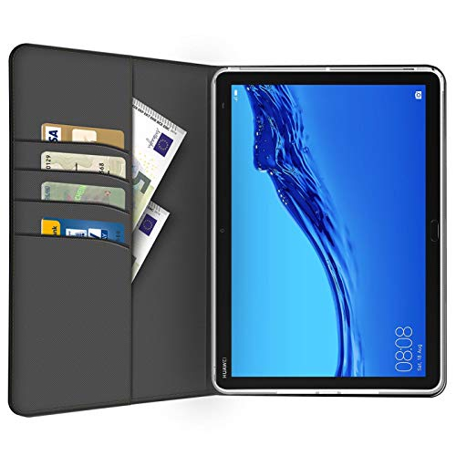 Verco Hülle für Huawei Mediapad M5 - M5 Pro, Schutzhülle Tablet Tasche Standfunktion Cover PU Leder [10,8 Zoll], Schwarz - 5