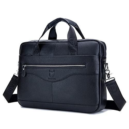 portátil maletín de cuero de negocios Anno capa de los hombres de cuero de vaca mensajero hombro superior bolsa maletín
