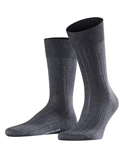 FALKE Herren Socken Milano - 97{6466d30463842bb2179b6b9d1e5bda3768bac628af49d85bb38d00932856eb05} Baumwolle, 1 Paar, Grau (Anthracite Melange 3190), Größe: 45-46