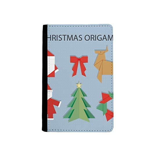 beatChong Patrón De Navidad De Origami Cubierta De La Carpeta De Viajes Titular del Pasaporte Bolso Rojo Resumen De La Tarjeta Caso