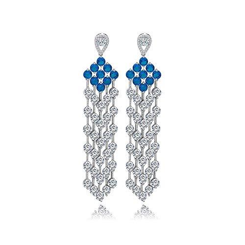 Allscheinige Ohrringe AAA Zircon Super Flash Ohrringe europäischen und amerikanischen Stil Ohrringe Ohrringe Braut Abendessen wellige Form
