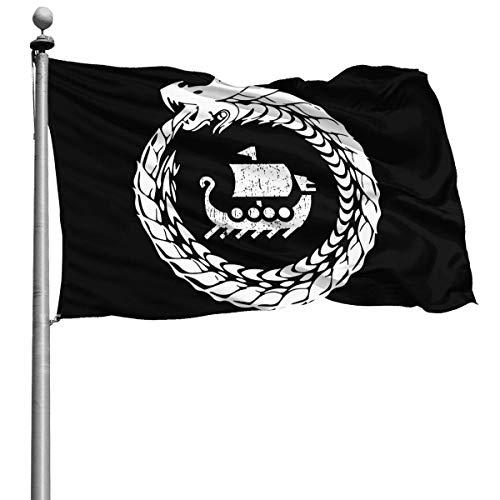 Fahnen und Flaggen,Dekoration Windward Flagge,Benutzerdefinierte künstliche Flagge,Saisonale Flaggen im Freien,Neue Stolzflagge,Nordische Mythologie Wikinger amerikanische Flagge 3X5 Ft By WH-CLA