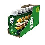 GERBER Organic Pera Manzana Plátano 90 g - Pack de 7