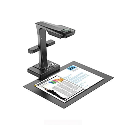 Czur ET16 Plus Buchscanner & Dokumentenscanner Kompatibel mit Mac und Windows,16 MP Sony Kamera, Erfassen Sie die maximale A3 Größe, Konvertiert in PDF/Durchsuchbare PDF/Tiff/Word/Excel