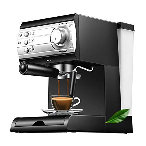 Cafetiere Expresso, Mousseur à Lait pour Cappuccino Pression de 20 bars/1.5L Amovible Réservoir D'eau/850 watts/Volume de vapeur réglable pour le domicile/bureau - Noir