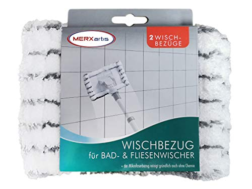 MERXartis Wischbezug für Bad und Fliesenwischer myk-myk im 2er-Pack