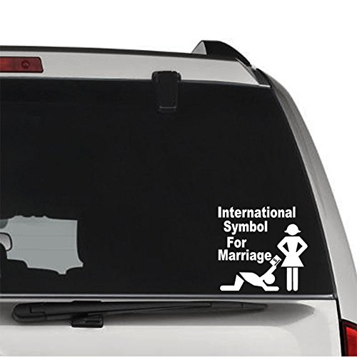 tablet marriage International Symbol for Marriage Permanent Vinyl Decal Sticker for Laptop Tablet Helmet Windows Wall Decor Car Truck Motorcycle - Size (15 inch / 38 cm Wide) - Color (Gloss Black)