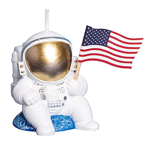 Spaceman Birthday Candle Outer Space Theme Rocket Candle for Birthday Party Childrens Day Baby Shower (style1)