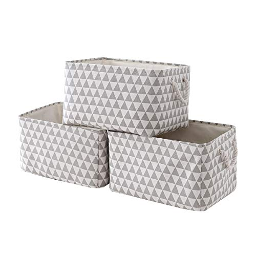 Sacyic Large Storage Baskets Bins [3-Pack] Fabric Baskets for Organizing, Empty Gift Baskets for shelves, Decorative Baskets for Closet, Cloth Baskets for Storage