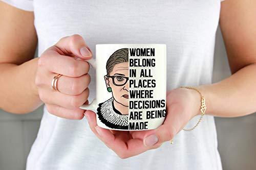 Thomas655 vrouwen horen op alle plaatsen waar een beslissing wordt genomen. Beroemde RBG Ruth Bader Ginsburg RBG koffiemok