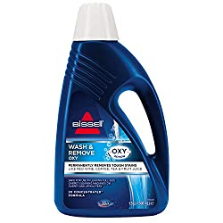 Permanently removes tough stains like red wine, coffee, tea and grape juice with the power of Oxy Laboratory tested and safe to use in BISSELL and other full-sized competitor carpet cleaners-even rental machines Concentrated 2X formula provides a gre...