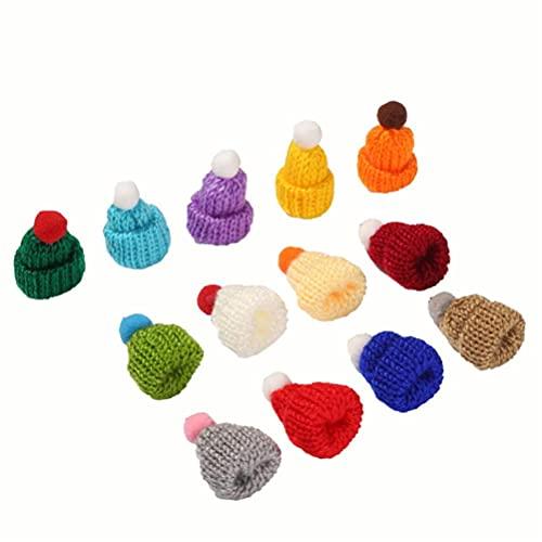 Srliya Craft - Mini sombreros de punto de Navidad, para tejer (30 piezas)