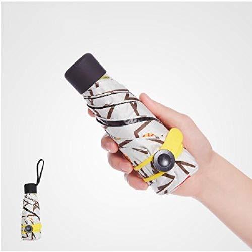 Sonnenschirm Regenschirm Ultraleichte Mini-Taschenschirm Frau Regenschirme Uv Regenfest Tragbar Tragbar Fünf Faltendamen Frau Sonne Und Regen Kleiner Regenschirm Geschenkzweig