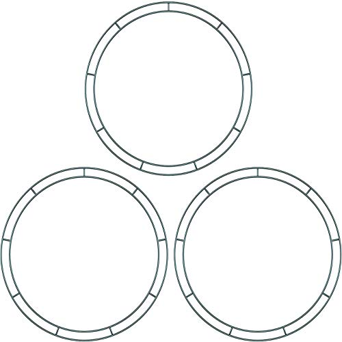 Sumind Flat Wire Rings Wire Wreath Frame Wire Wreath Making Rings for New Year Valentines Decoration (3 Pieces, 10 Inches, 12 Inches, 14 Inches)