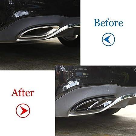 La meilleure qualit/é for Mercedes Benz GLC A B C Classe E W205 x253 Coupe W213 W176 W177 W246 W247 2016-2019 Tuyau d/échappement Couverture garniture en acier Color Name : Style A Glossy Black