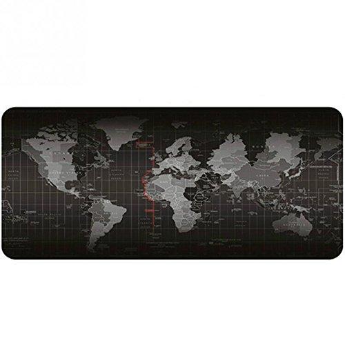 Alfombrilla de ratón gaming grande , caben ratón y teclado, con diseño de mapa del mundo, para portátil u ordenador, ideal para Alfombrilla de ratón jugar, 800*300mm