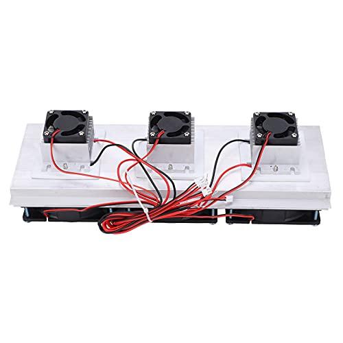 Máquina de enfriamiento de semiconductores Kit de sistema de enfriamiento de refrigeración termoeléctrico Peltier 3 ventiladores, 11.8x4.3x3in