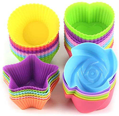 LetGoShop Silicone Cupcake Liners