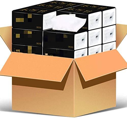 GJJSZ Toallas Toalla de Papel,hogar 4 Capas 60 Papel de Bombeo de Papel 40 Paquetes de Toallas Blancas Suaves