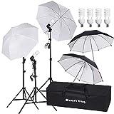 MOUNTDOG 800W Photography Umbrella Continuous Lighting Kit Photo Portrait Studio Day Light Umbrella...
