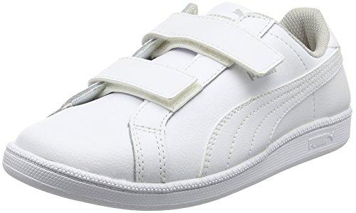 PUMA Smash Fun L V PS 361591, Sneaker, Weiß (White-White 04), 32 EU (13 UK)