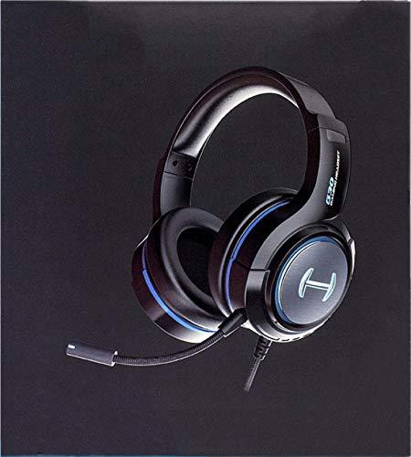 CYONGYOU G30 Casque de jeu USB avec microphone Noir Bleu