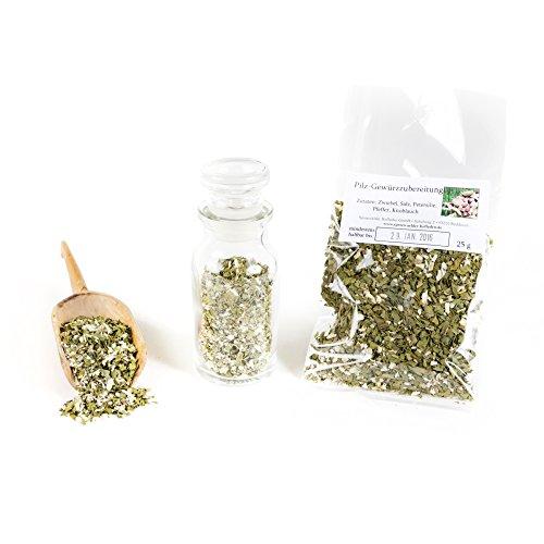 Pilz Gewürzmischung für Pilze, Pilzsuppe & Pilz-Risotto, Pilzgewürz Premium-Qualität, Rahmsoße, Kräuter getrocknet, Bratengewürz, glutenfrei, 25g