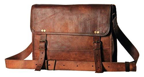 ALASKA EXPORTS - BF da Uomo in Vera Pelle Messenger Borse Laptop Briefcase Satchel Mens Bag