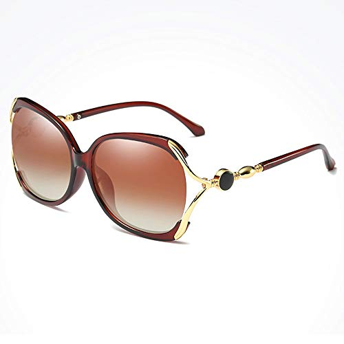 TYXL Sunglasses Mariposa Hueca Marco Grande Gafas De Sol Polarizadas Cuadradas for Mujeres Deportes Al Aire Libre Conducción Pesca Playa De Viaje UV Gafas De Sol Marco De Metal Protección UV400