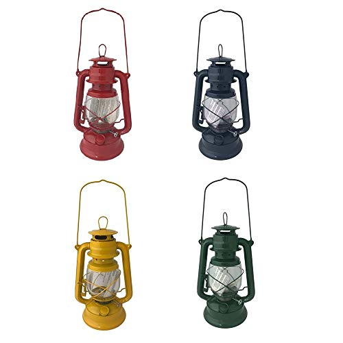 Megaprom Retro olielamp, petroleumlamp, stormlantaarn, stormlamp, campinglamp, lantaarn in nostalgische look