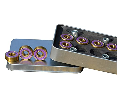 Bextreme Rodamientos ABEC 11 de Alta precisión. Cojinetes de Titanio para Skateboard, Longboard, Patines, monopatines, patinetas, Scooter, Patinete, Skate, surfskate, Cruiser, Penny