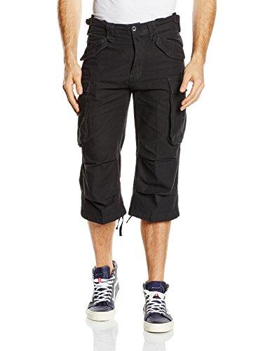Brandit Industry Vintage 3/4 Shorts Pantalones Cortos, Negro, M para Hombre