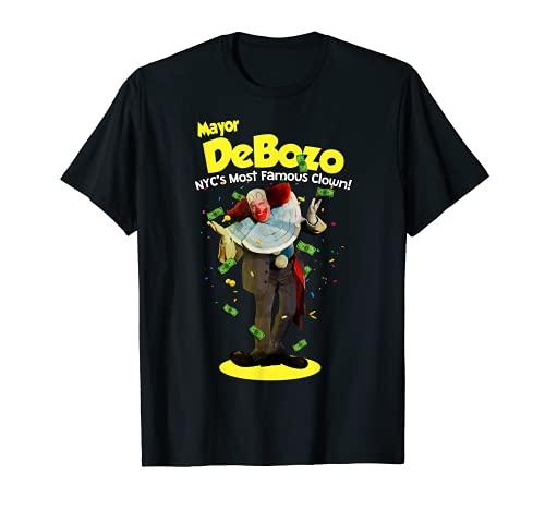Mayor Bill de Blasio - Maglietta divertente da clown 'DeBozo' Maglietta