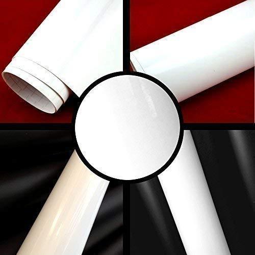TipTopCarbon 8,55€/m² Glanz Hochglanz Weiß 152cm breit Blasenfrei Autofolie selbsklebend mit Luftkanäle 3D Flex Folie Auto