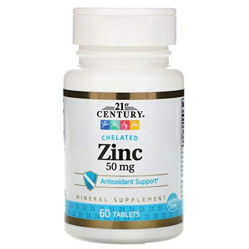 21st Century, Zinc, Chelated, 50 mg, 60 Tablets(249)