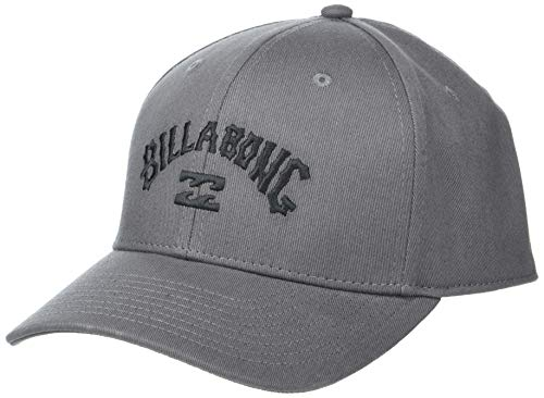 BILLABONG Arch Stretch Fit Hat Gorra de béisbol, Gris Oscuro, S-M para...
