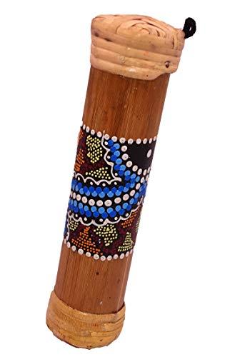 Bastón de lluvia de bambú tradicional musical, 19 cm, artesanal, pintado, relajación