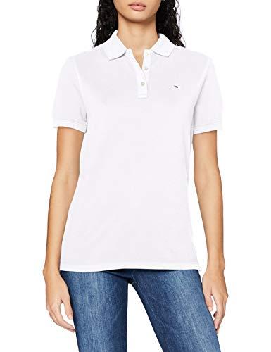 Tommy Hilfiger Damen TJW Slim Polo T-Shirt, weiß, XS