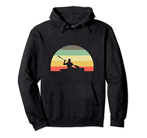 Retro Kajak Sport Geschenk I Kanu Kayak Kajaker Pullover Hoodie