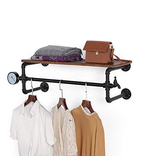 Étagère à cadre Étagère murale avec fer et bois en métal comme étagères suspendues Étagère de rangement étagère pour vêtements