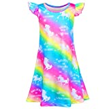 Sylfairy Girls Nightgowns, Unicorn nightgown Princess Pajama Dresses for Girls Sleepwear Nightie