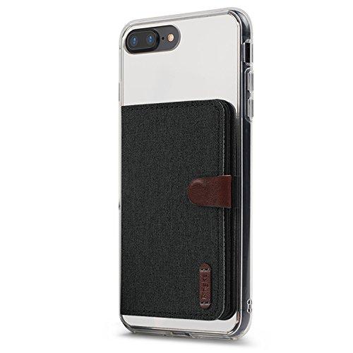 Ringke Flip Card Holder Porta Carte Adesivo Portafoglio Compatibile con Custodie per iPhone, Galaxy, Xiaomi, Huawei - Charcoal Black