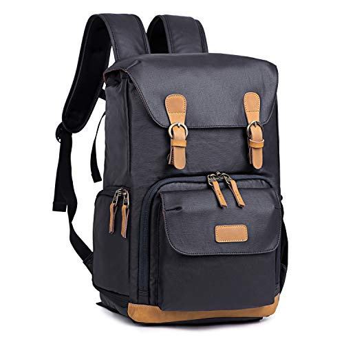 Kattee Camera Backpack Canvas Water-repellent 15 inch Laptop Bag DSLR SLR...