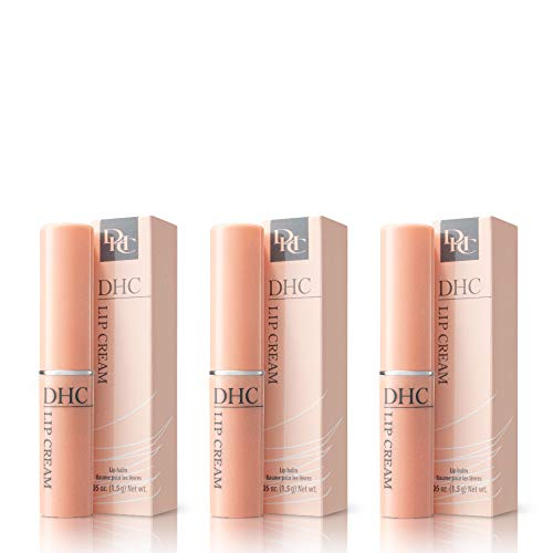 DHC Lip Cream 3 pack, Ultra-Moisturizing, Soothing, Hydrating, Dry, Chapped Lips, Protecting, Fragrance and Colorant Free, 0.05 oz. Net wt.