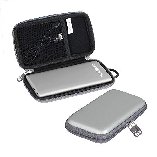 Hermitshell Hard Travel Case fits POWERADD Pilot 4GS 12000mAh 8-Pin Input Portable Charger (Grey)