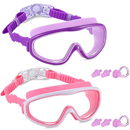 Yizerel 2 Pack Kids Swim Goggles, Swimming Glasses for Children and Early...